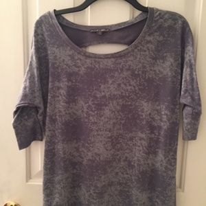 Casual open-back knit top